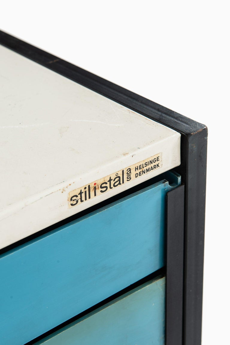 Scandinavian Modern Storage Units Produced by Stil i Stål in Denmark For Sale