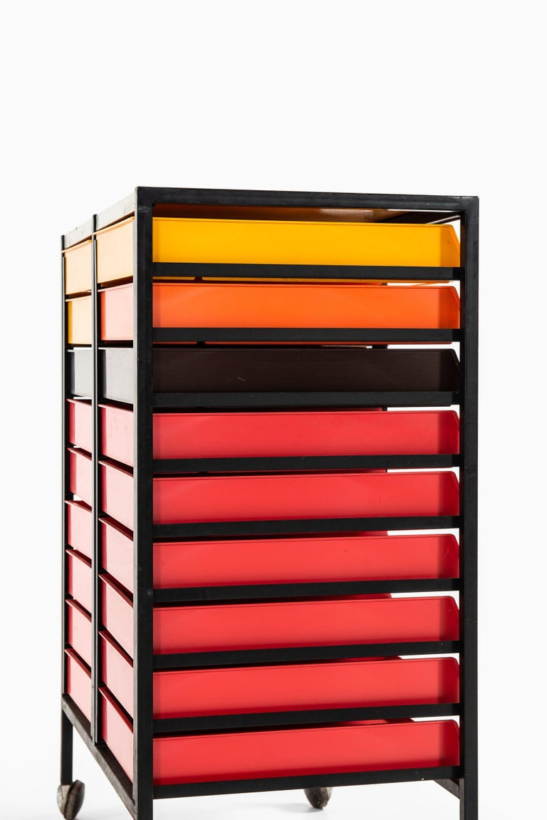 Mid-20th Century Storage Units Produced by Stil i Stål in Denmark For Sale