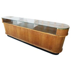 Store Counter in Oval Shaped Form from the 1960s