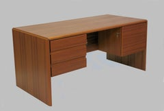 1980s Danish Desk in Teak by Silberg Mobler