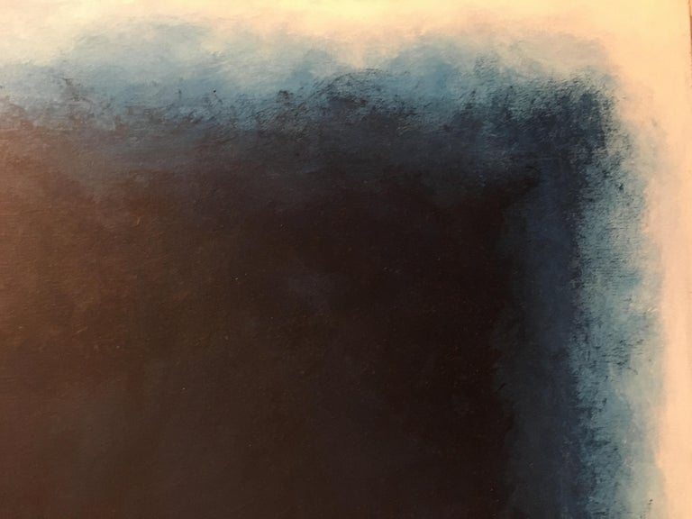 Mid-Century Modern Storm, Contemporary Color Field Abstract by Benjamin Casiano For Sale