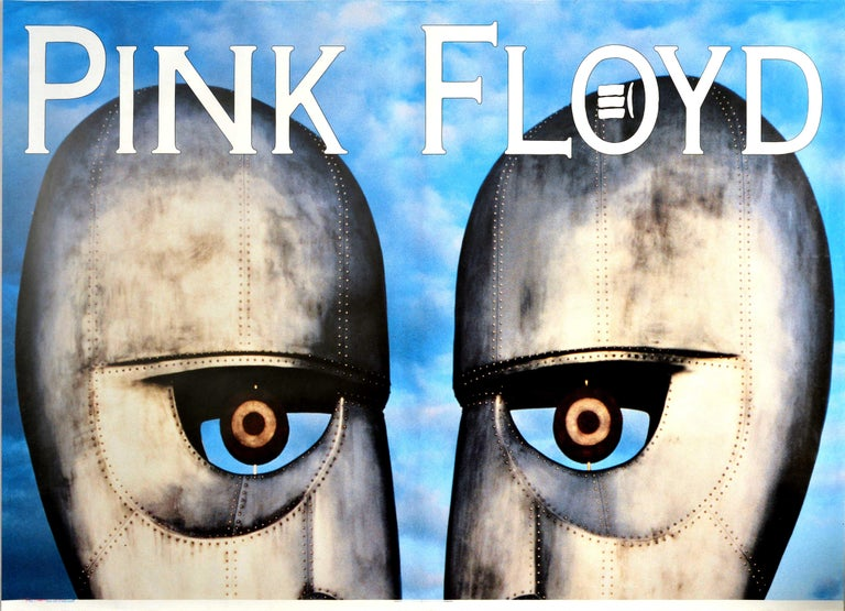 Original Vintage Poster Pink Floyd The Division Bell Music Album Art Metal Heads - Print by Storm Thorgerson