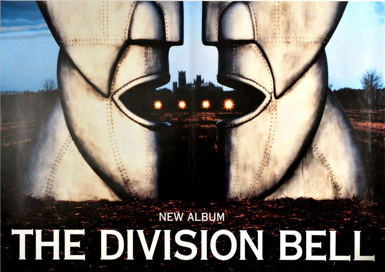 Original Vintage Poster Pink Floyd The Division Bell Music Album Art Metal Heads - Gray Print by Storm Thorgerson