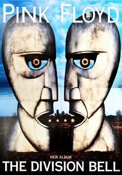 Original Vintage Poster Pink Floyd The Division Bell Music Album Art Metal Heads