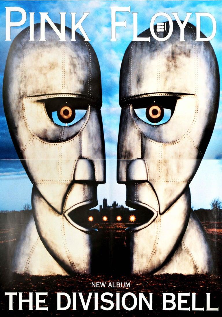 Storm Thorgerson Print - Original Vintage Poster Pink Floyd The Division Bell Music Album Art Metal Heads