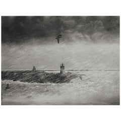 """Storm""1999 Black & White Photography Gelatin Silver Print by Ana Maria Cortesão"