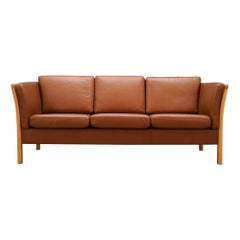 Stouby Sofa Retro 1960s Brown Leather