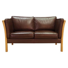 Stouby Sofa Vintage 1960s Brown Leather Retro