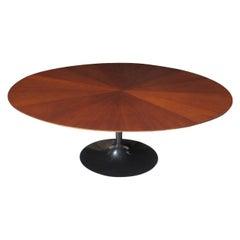 6ft Borsani Knoll Saarinen Walnut Starburst Table