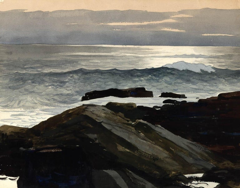 Shoreline. - Painting by Stow Wengenroth