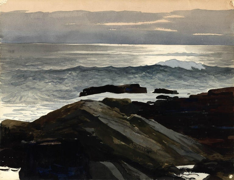 Stow Wengenroth Landscape Painting - Shoreline.