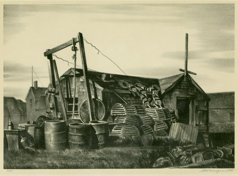 Stow Wengenroth Landscape Print - Lobsterman's House