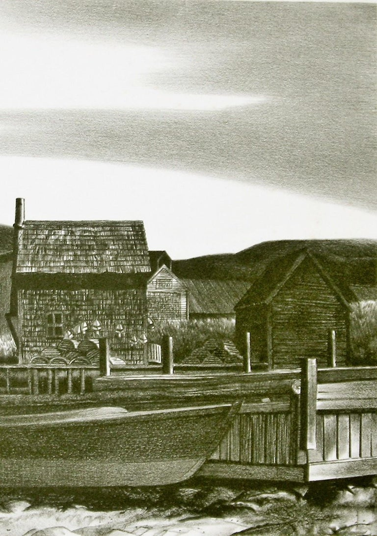 North Village, Port Clyde, Maine. - Print by Stow Wengenroth