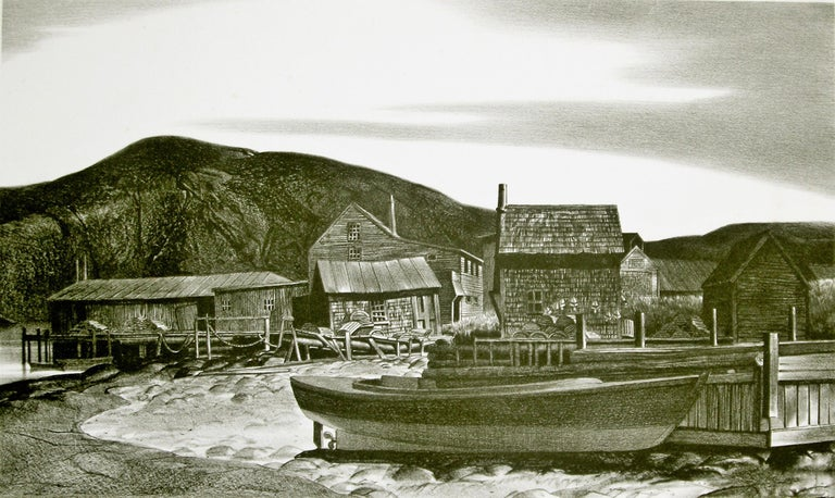 North Village, Port Clyde, Maine. - American Modern Print by Stow Wengenroth