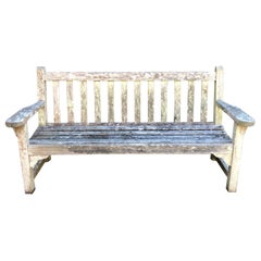 Straight English Weathered Bench in Teak