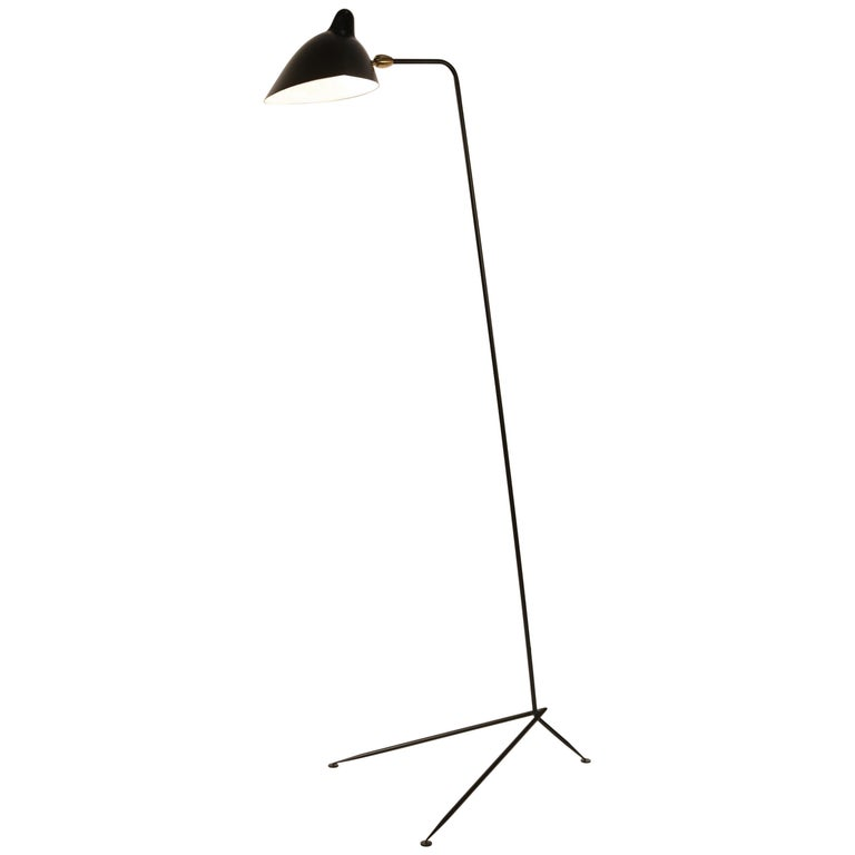 """Straight"" Floor Lamp by Serge Mouille For Sale"
