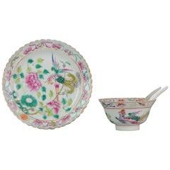 Straits Porcelain Chinese Bowl China SE Asian Market Peranakan Marked