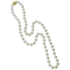 Strand of Large Fine Cultured Pearls