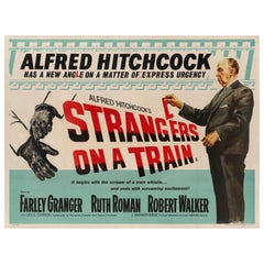 'Strangers on a Train' Original British Movie Poster