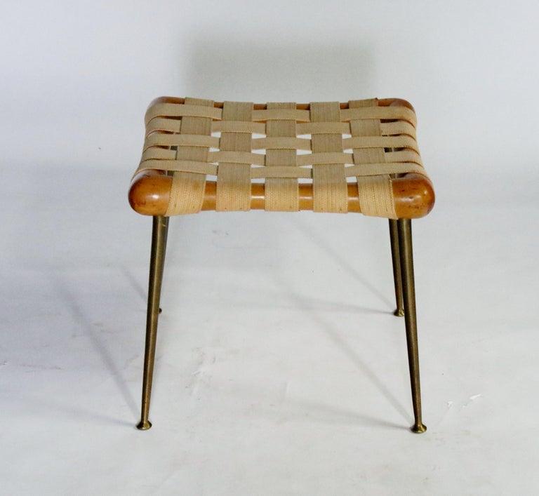 Mid-Century Modern Strap Bench by T.H. Robsjohn Gibbings For Sale