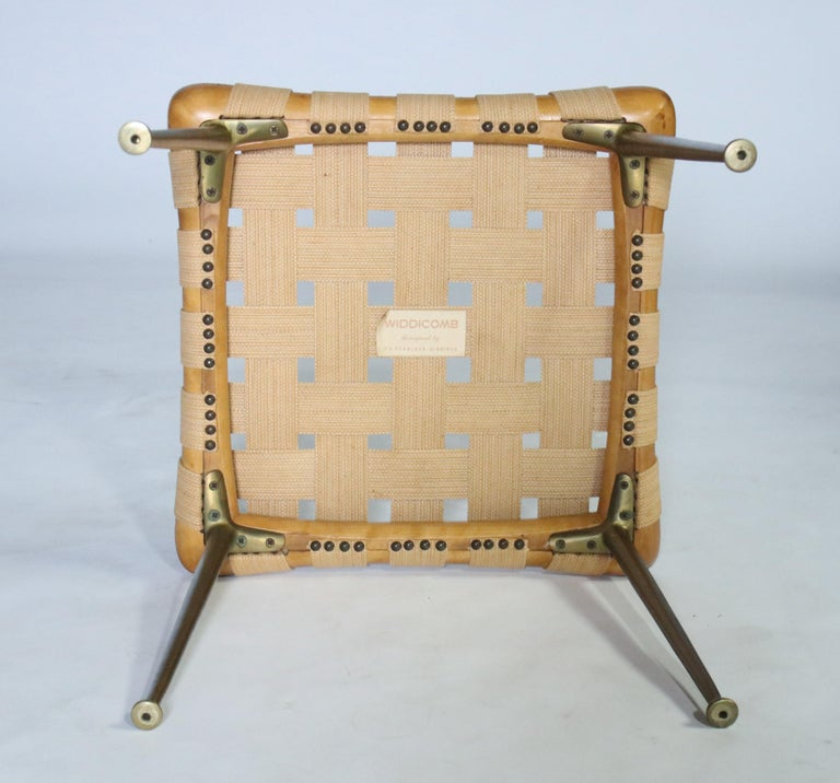 Mid-20th Century Strap Bench by T.H. Robsjohn Gibbings For Sale