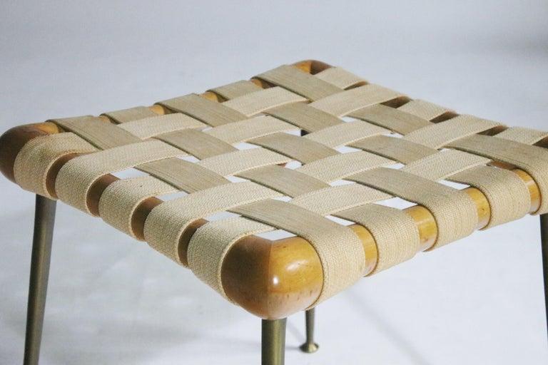 Brass Strap Bench by T.H. Robsjohn Gibbings For Sale