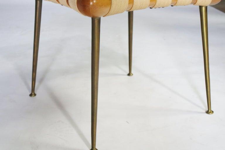 Strap Bench by T.H. Robsjohn Gibbings For Sale 1