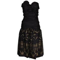Strapless Zandra Rhodes Party Dress 1980s
