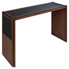 Straps Walnut Console Table