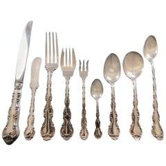 Strasbourg by Gorham Sterling Silver Dinner Flatware Set 12 Service 122 Pieces