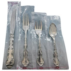 Strasbourg by Gorham Sterling Silver Flatware Set 8 Service 45 Pcs Place New