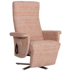 Strässle Fabric Armchair Rosé Beige Pastel Electrical Function Relaxation
