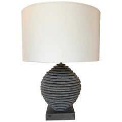 Strata Slate Sphere Table Lamp
