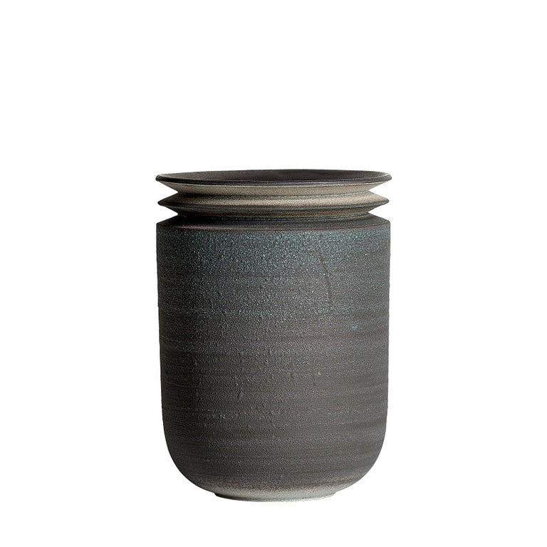 Strata, Vessel M, Slip Cast Ceramic Vase, N/O Vessels Collection For Sale