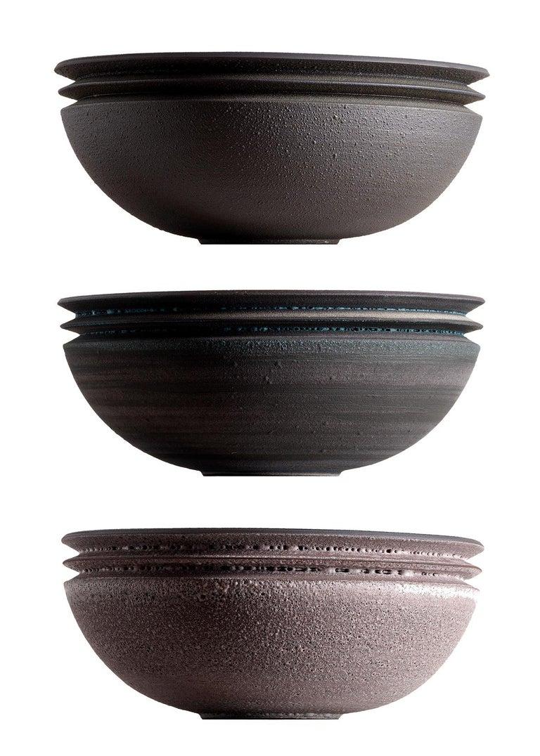American Strata, Vessel N, Bowl, Slip Cast Ceramic, N/O Vessels Collection For Sale