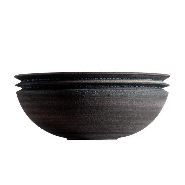 Strata, Vessel N, Bowl, Slip Cast Ceramic, N/O Vessels Collection For Sale