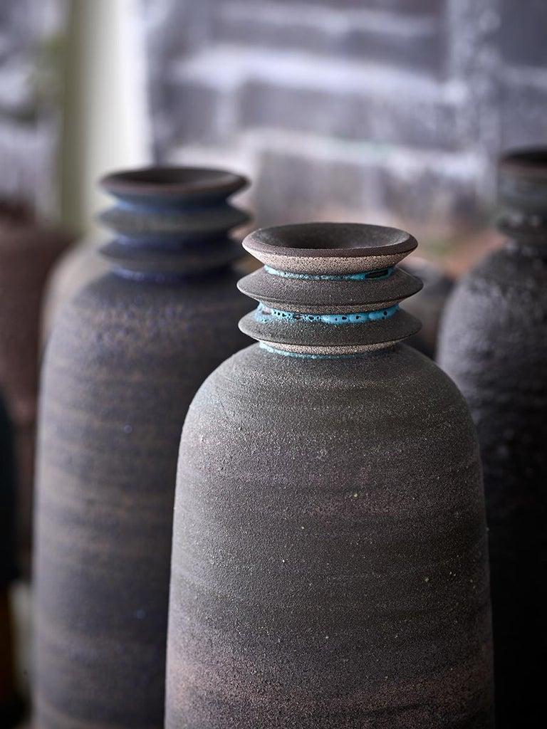 Strata, Gefäß O, Schlick Keramik Vase, N/O Gefäße Sammlung 2