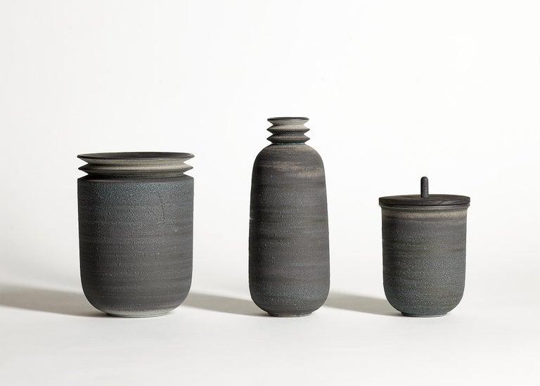 Strata, Gefäß O, Schlick Keramik Vase, N/O Gefäße Sammlung 4