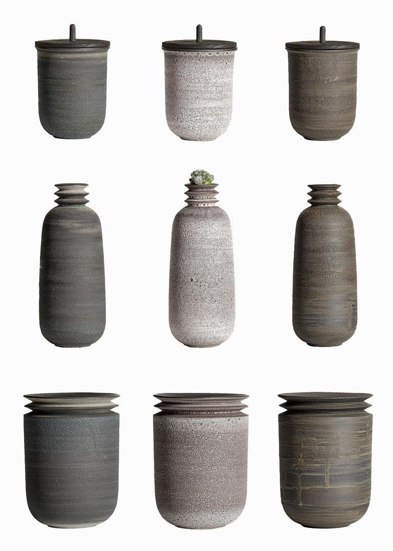 Strata, Gefäß O, Schlick Keramik Vase, N/O Gefäße Sammlung 5