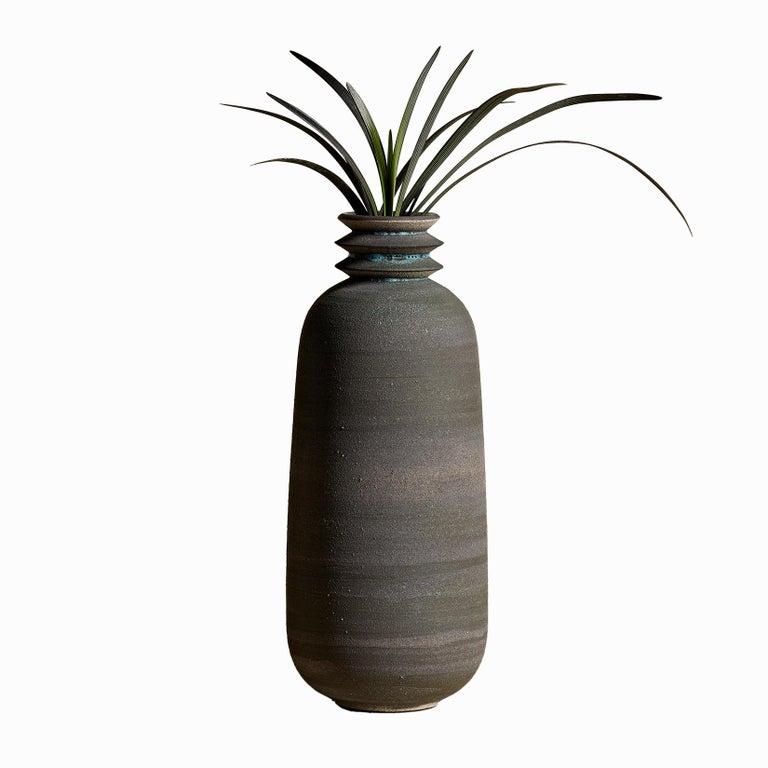 Strata, Gefäß O, Schlick Keramik Vase, N/O Gefäße Sammlung 1
