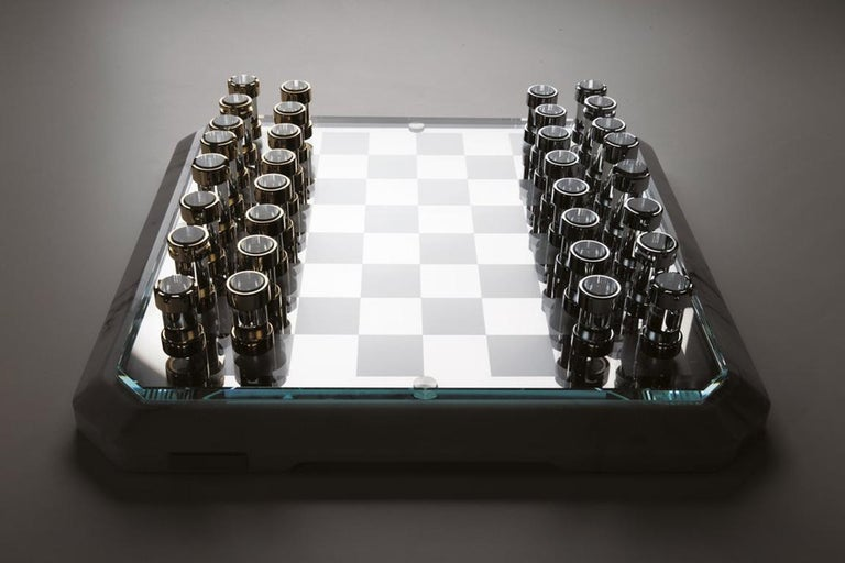 Modern Stratego Chessboard by Lorenzo Di Giovanni for Teckell For Sale
