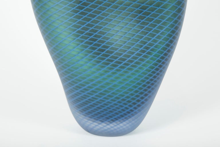 Other Stratiform Ferro Reticello 001 unique glass sculpture by Liam Reeves For Sale