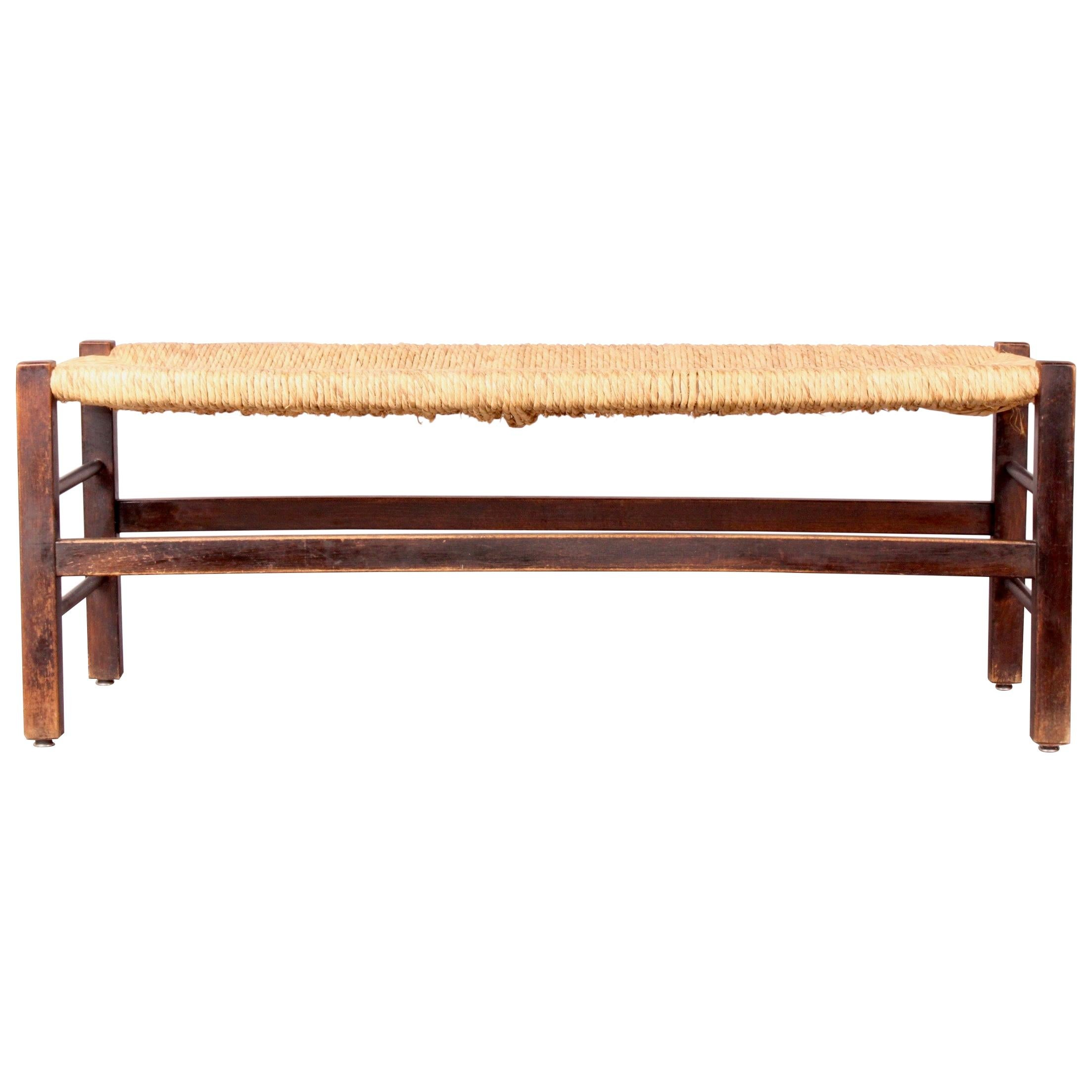 Straw and Wood Bench