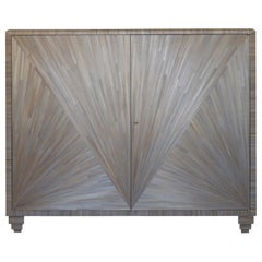 Straw Marquetry Cabinet, Art Deco Style
