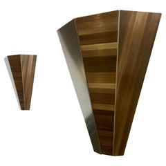 Straw Marquetry Sconces, France
