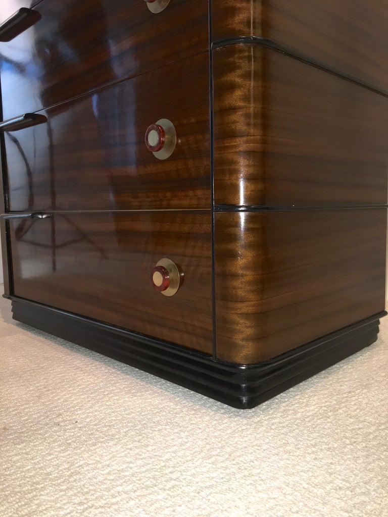 Streamline Art Deco Tall Chest of Drawers For Sale 13