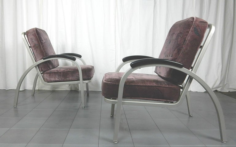 Art Deco Streamline Moderne Lounge Chairs By Emeco For Sale