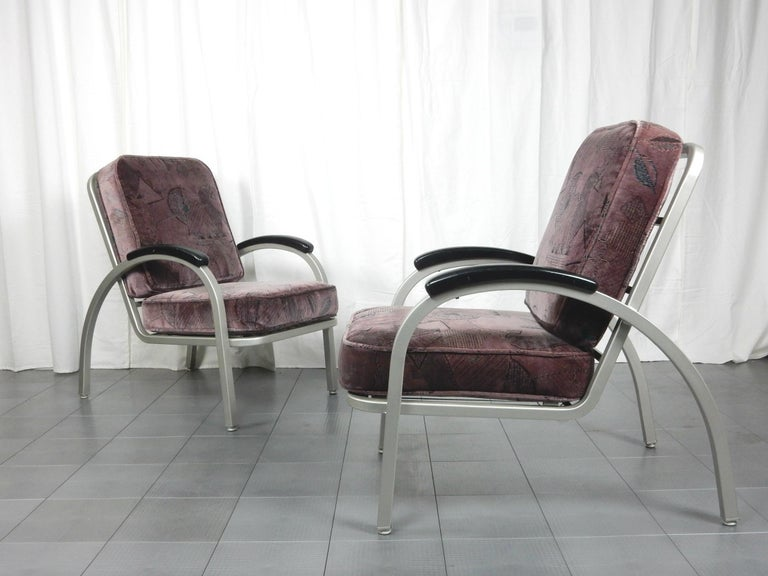 Aluminum Streamline Moderne Lounge Chairs By Emeco For Sale