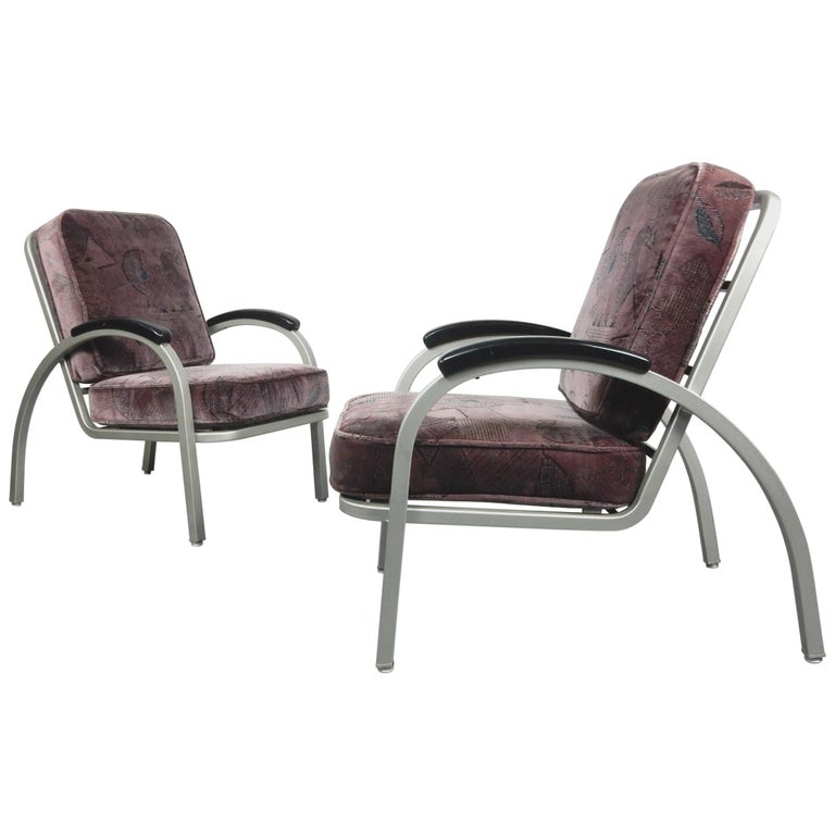 Streamline Moderne Lounge Chairs By Emeco For Sale