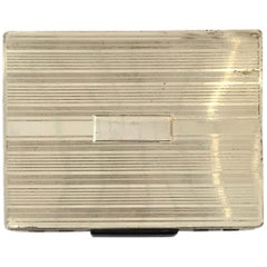 Streamlined Sterling Silver Cigarette Case with Dispenser